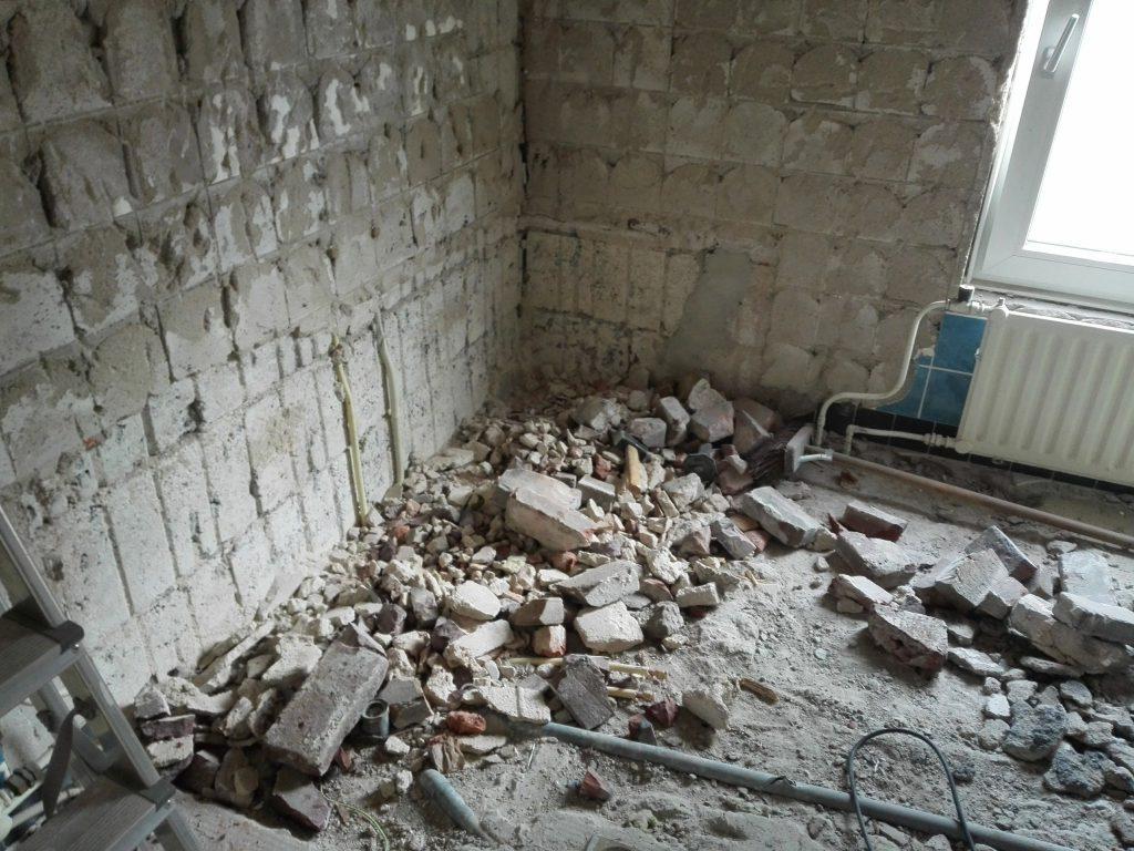 Een badkamer verbouwen zorgt voor puin
